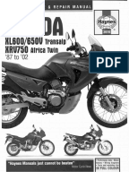 africa twin owners manual pdf
