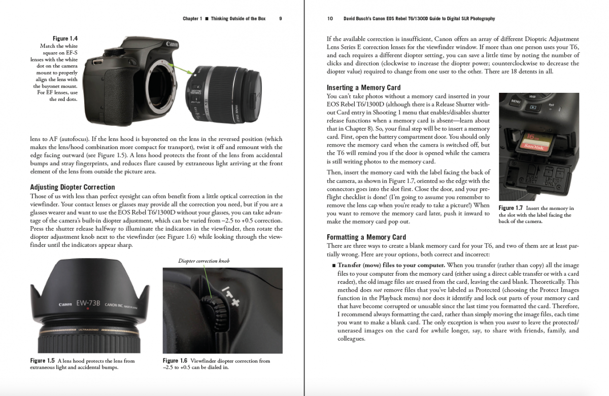 canon rebel t6 owners manual