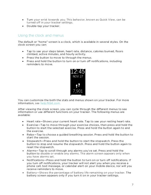 fitbit user manual charge 2