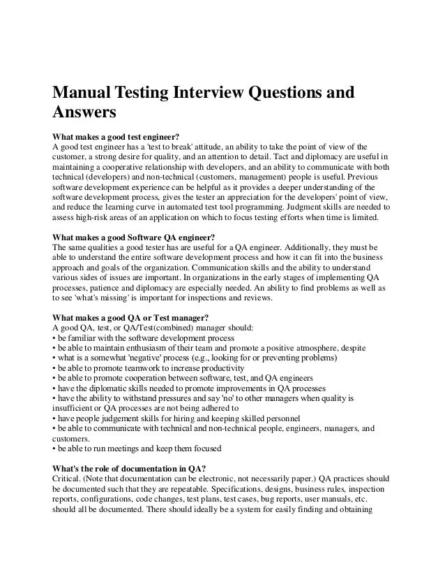 manual testing 2 years interview questions