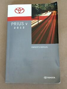 toyota prius v 2012 owners manual