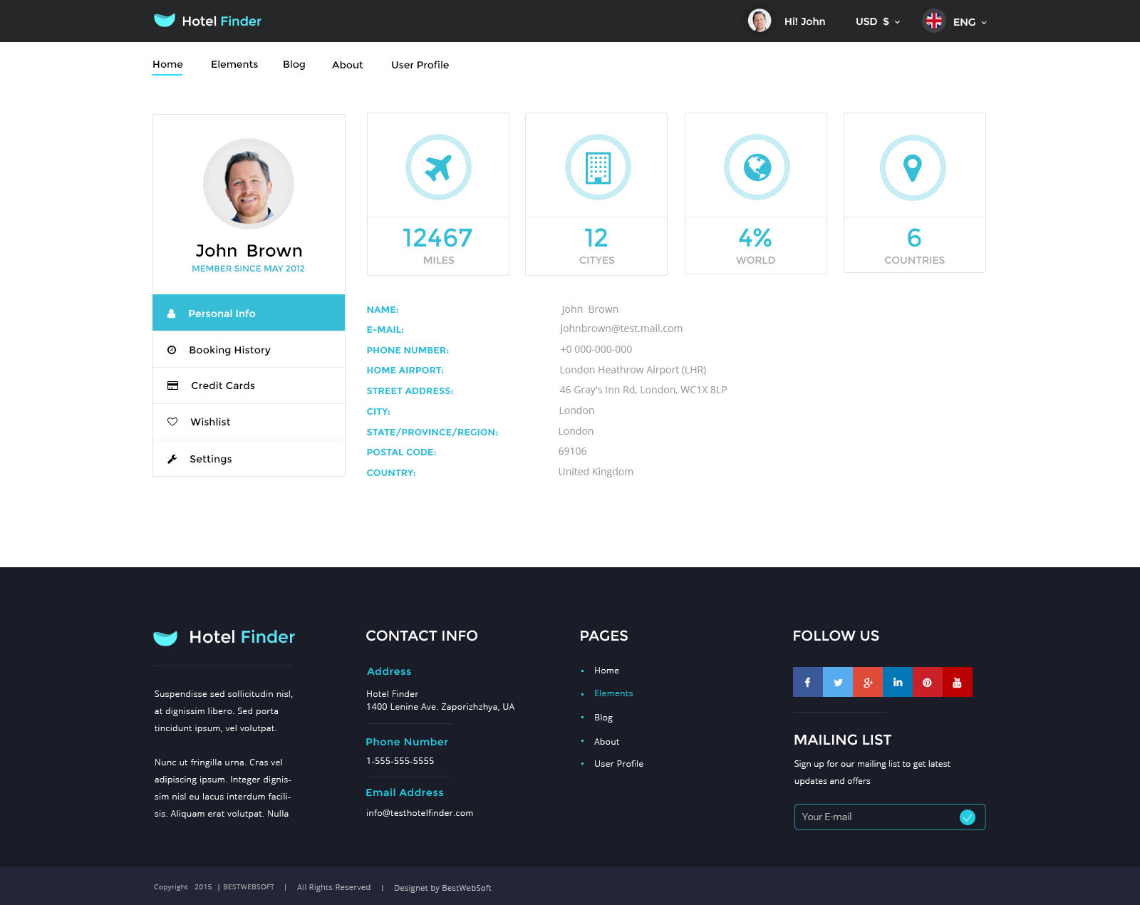 user manual template for website